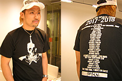 Icchan and the Black Skull and Guns Shirt