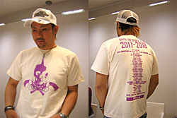 Icchan and the White Skull and Guns Shirt