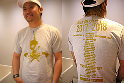 Icchan and the Gold Skull and Guns T-shirt