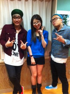 TEEDA and KENJI03 with Sana on on8, BayFM