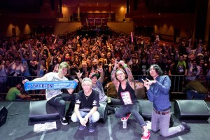 BACK-ON Anime USA 2013 photo with fans by Musicman-NET